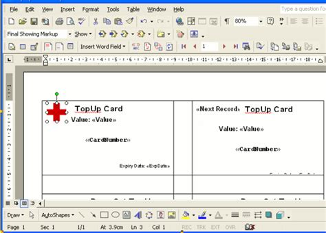 Credit Card Size Template For Word by Create New Cards