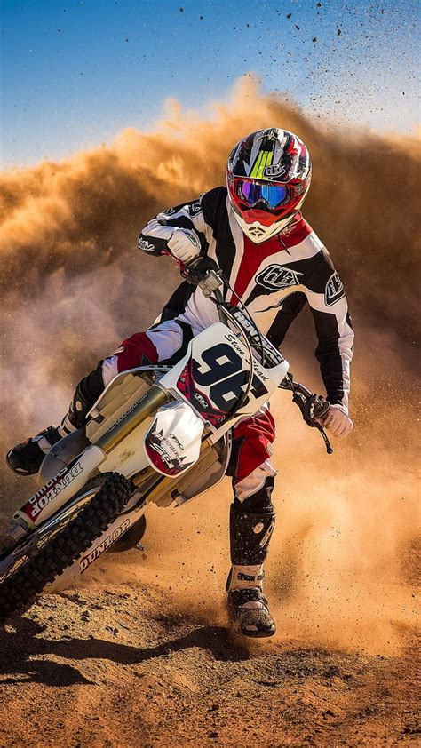 motocross biker mud racing iphone wallpaper iphone