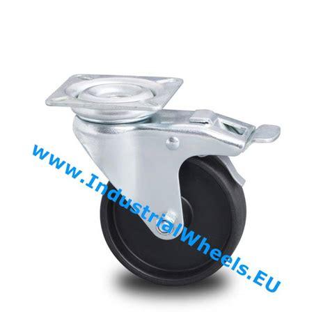 billige len drejeligt hjul bremse 216 50mm polypropylen hjul 40kg