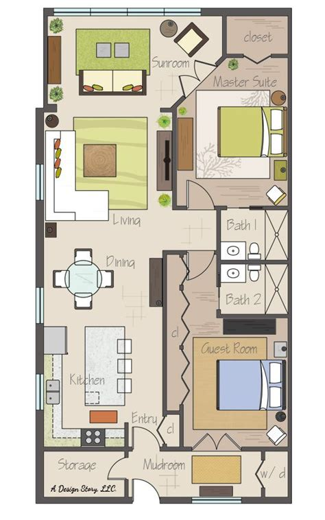 17 best ideas about 2 bedroom house plans on 2