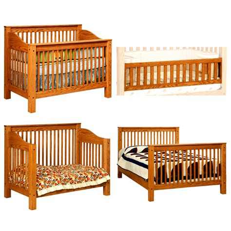 Amish Baby Cribs Amish Baby Crib Amish Mccoy Convertible Baby Crib Solid Wood Made In Usa American Eco