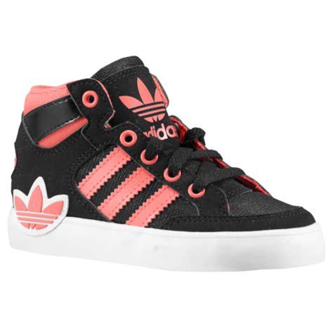 adidas originals court hi toddler basketball shoes black zest white