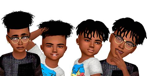 ebonix sims 4 child ebonix child toddler hair conversions sims