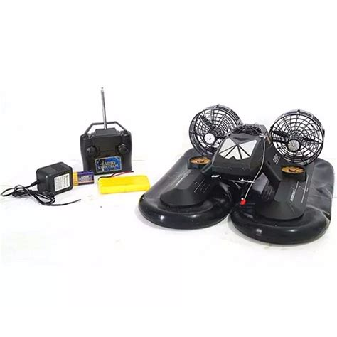 Hovercraft Boat Remote Black Hitam multifunctional rc hovercraft air powered boat black in