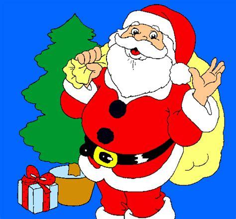 arboles de naviadad con santa clous dibujo de santa claus y un 225 rbol de navidad pintado por santa en dibujos net el d 237 a 17 11 10 a