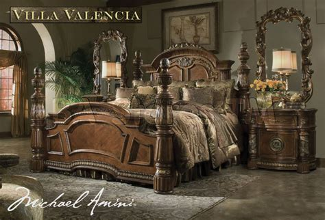 villa valencia bedroom set quot michael amini quot classic chestnut bedroom set villa