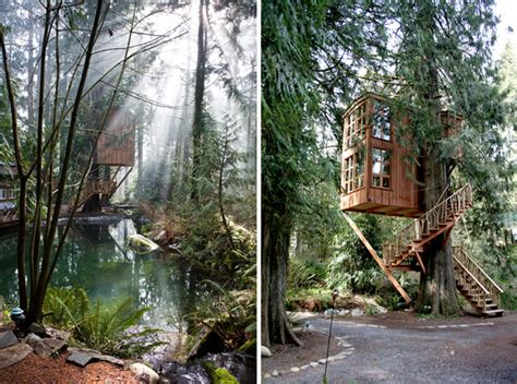 whimsical treehouse point getaway in issaquah wa