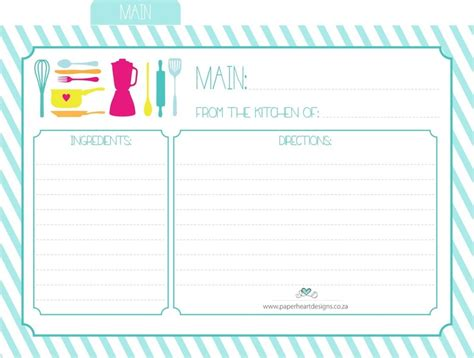 Free Alzheimer Recipe Card Template by Paper Designs Free Printable Recipe Cards