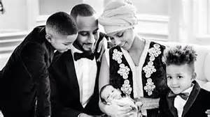 Alicia keys shows off 2 month old baby in most adorable family pic