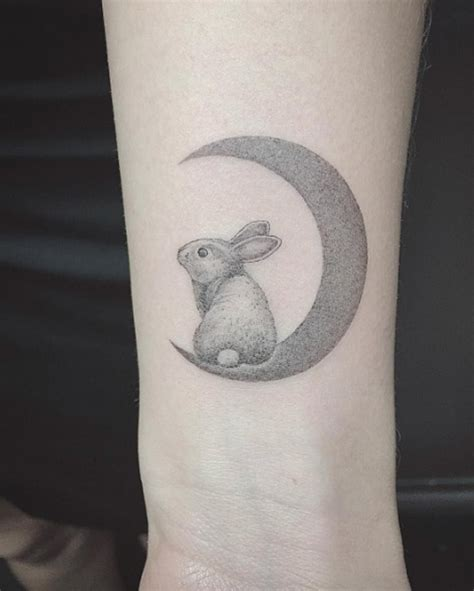 24 cute rabbit wrist tattoos