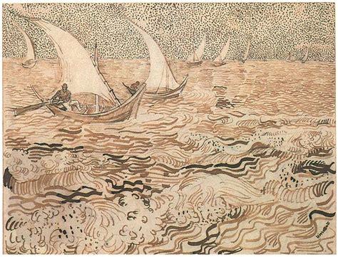 boat drawing sea fishing boats at sea by vincent van gogh 947 drawing