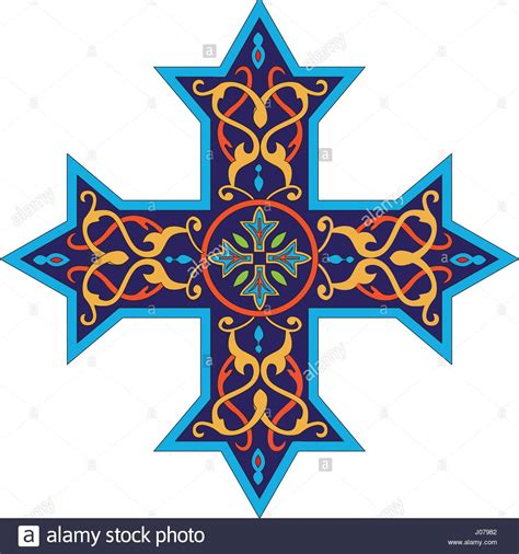coptic cross is a design used by the coptic catholic