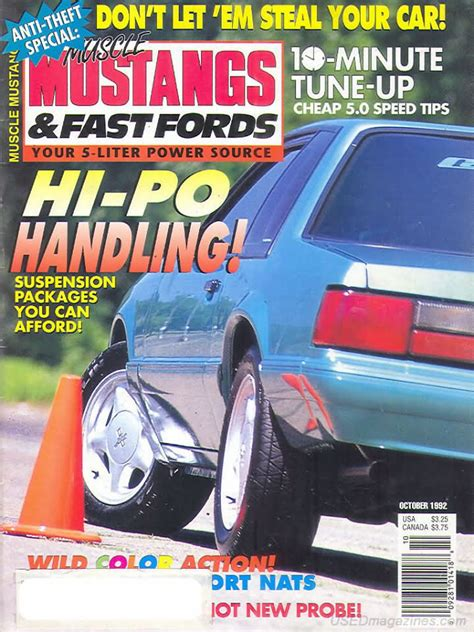 mustangs and fast fords back issues backissues mustangs fast fords october 1992