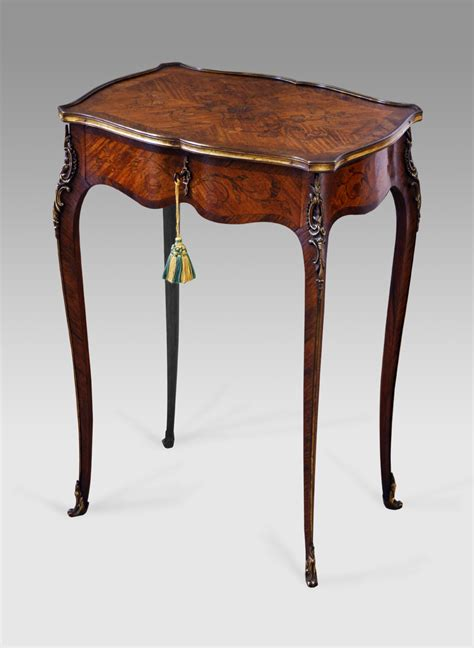 Antique Table by Antique Marquetry Occasional Table Antique L Table