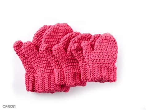 pattern crochet mittens caron hands full crochet mittens crochet pattern