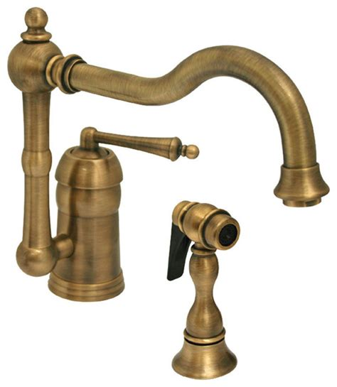 rustic kitchen faucet legacyhaus single lever handle faucet swivel spout solid brass side spray rustic kitchen