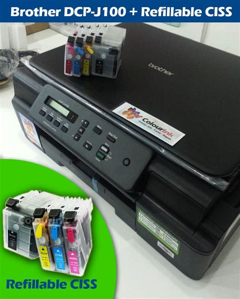 Printer Dcp J100 Inkbenefit dcp j100 inkbenefit printer ciss refillable cartridge 3 in 1 inkjet printer