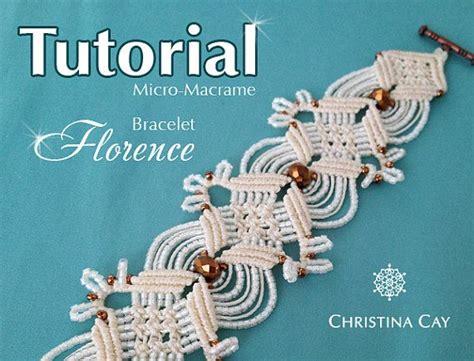 Rideaux Macramé by Tutorial Pdf Micro Macrame Bracelet Quot Florence Quot Pattern
