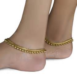 Chandelier Hanging Chain Indian Gold Plated Heart Anklet Payal For Girls Weddings Eve