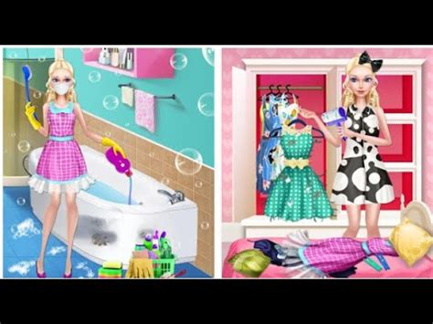 cleaning games for girls beauty doll s house cleaning videos games for kids girls