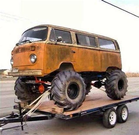 monster truck bus videos monster truck vw bus volkswagen pinterest vw bus