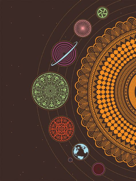 space and pattern in art art design planets solar system jeffrey lebowski