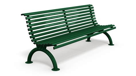 street furniture bench galvanized steel bench with backrest for street furniture