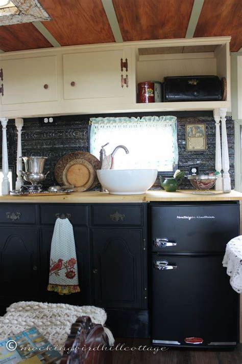 rv bathroom cabinet probably the cutest trailer kitchen reno yet vintage
