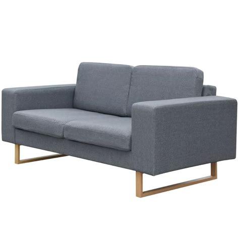divano a due posti vidaxl divano a due posti in tessuto grigio chiaro vidaxl it