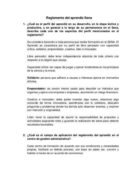 reglamento del aprendiz sena 2015 reglamento del aprendiz sena 1 1