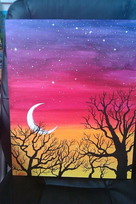 easy acrylic painting ideas trees search paint