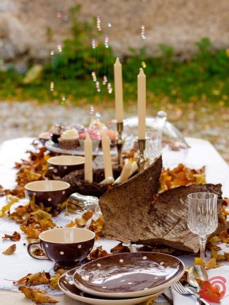 apparecchiare tavola autunnale la tavola romantica nei toni dell autunno casa e trend