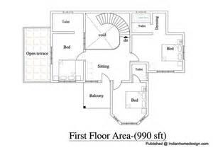 Design Home 880 Sqft House Designs Indian Style Tamilnadu House Design Small