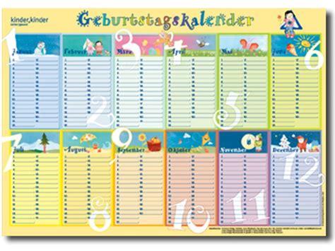 Kostenlose Vorlage Geburtstagskalender Geburtstagskalender Einebinsenweisheit