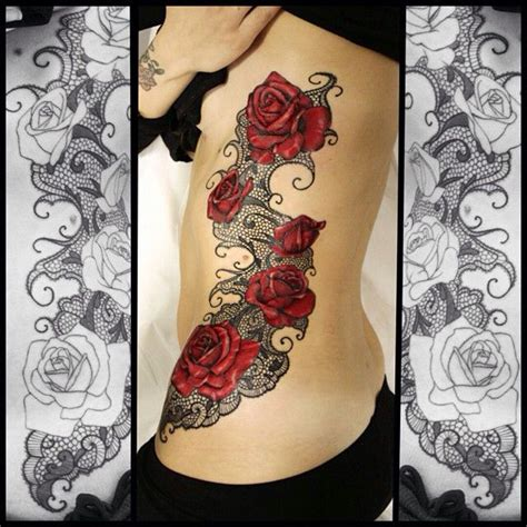 rose and lace tattoos 25 best ideas about lace tattoos on lace