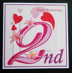 2 glorious years 2nd anniversary card cup124146 698 craftsuprint