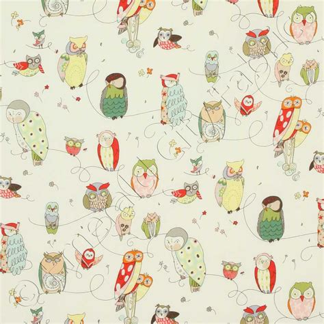 henry in the kitchen spotted owl fabric