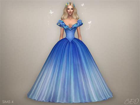 ball gown sims 4 cinderella 2015 butterflies dress s4 4 colours