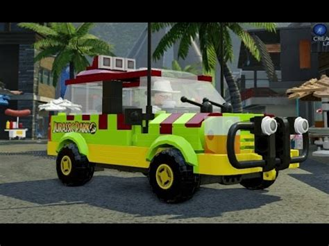 jurassic park car lego lego jurassic all 36 vehicles unlocked a look at