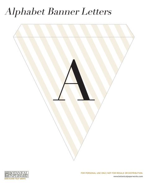 letter templates for banners free printable alphabet banner for all occasions