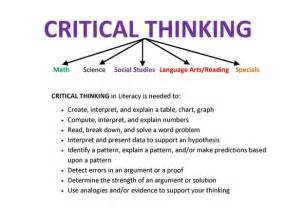 What Is A Critical Thinking Essay by Critical Thinking South Middle School