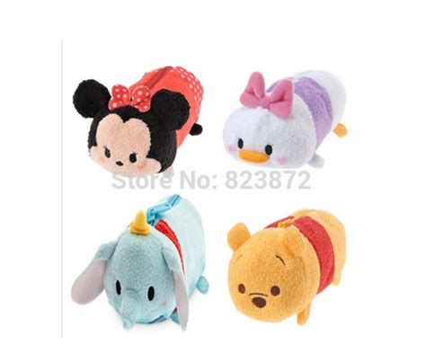 Tsum Tsum Pouch Mickey Minnie tsum tsum plush pencil minnie mickey donald stitch mike sully piglet bag baby dolls