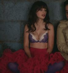 angry scaredy xxxx with and emily xxxx zooey deschanel in bra gifs find on giphy