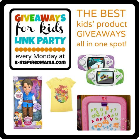Giveaways For Kids - 12 31 giveaways for kids link party mondays at b inspiredmama com