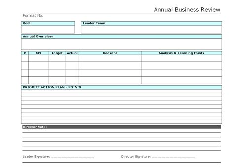 business performance review template annual reviews exles kays makehauk co