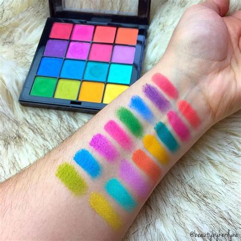 Nyx Primal Color Pressed Pigments Fuschia Pc04 those colors beautybykerilyne swatched our new brights ultimate shadow palette visit page