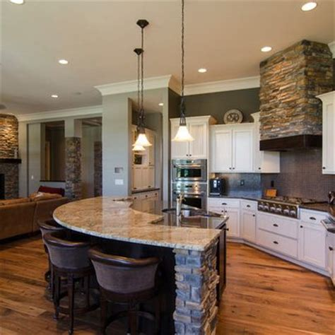 open concept kitchen design love the open bar area where people can sit and visit
