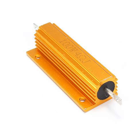 4 ohm 2 watt resistor 1 2 4 8 10 ohm 100w watt shell power aluminum housed wirewound resistor new ebay