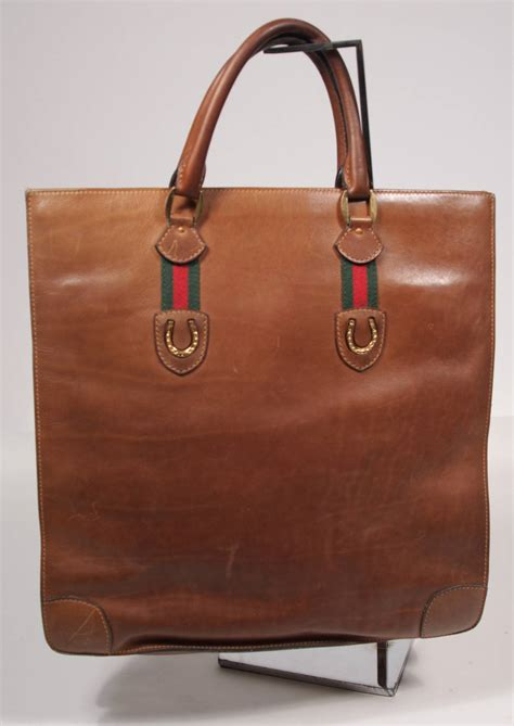 Tas Gucci Craft Canvas Bronze Tote Bag Medium gucci brown leather tote with shoe at 1stdibs