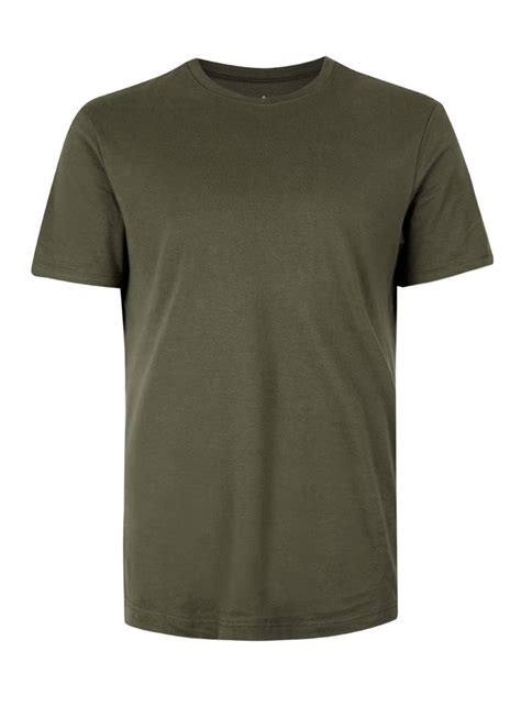 T Shirt Khaki Jersey Slim Fit T Shirt Topman